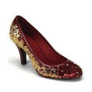Bordello Pleaser High Heel Glitter Red Sequins